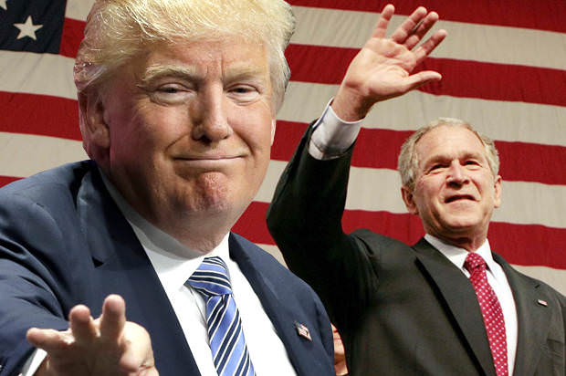 Like a double dose of Dubya: Donald Trump's presidency will be like the George W. Bush disaster — only worse